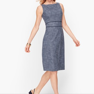 Talbots Lightweight Tweed Sheath Dress