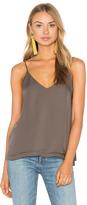 Heather Silk Double Layer Pleat Cami