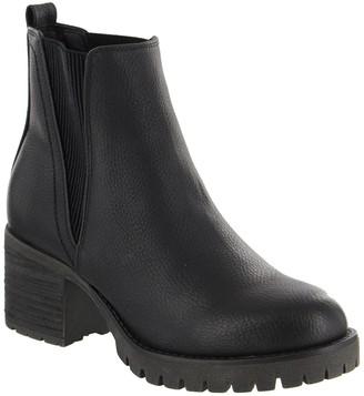 Mia Jody Ribbed Block Heel Chelsea Boot