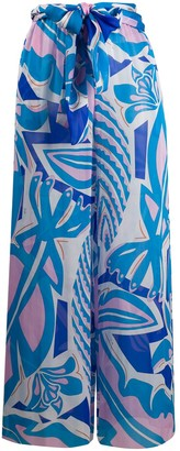 Emilio Pucci Abstract Print Palazzo Trousers