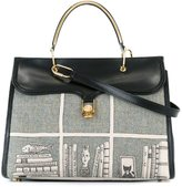 Olympia Le-Tan printed tote - women - Calf Leather/Wool - One Size