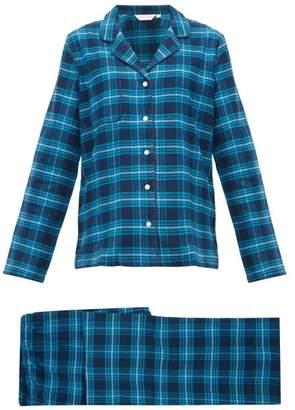 Derek Rose Kelburn Brushed Cotton Pyjamas - Womens - Navy