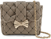 RED Valentino Quilted point d'espirit and canvas shoulder bag