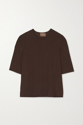 ALBUS LUMEN Stretch-jersey T-shirt - Brown