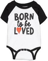 Black & White 'Born To Be Loved' Raglan Bodysuit - Infant