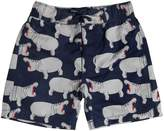 Mini Rodini Hippo Printed Lycra Swim Shorts