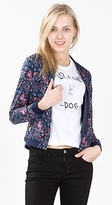 Esprit Silky bomber jacket with a floral print