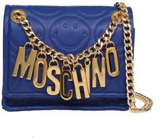 Moschino Smiley M Bag Shoulder Bag With Letters Pendants