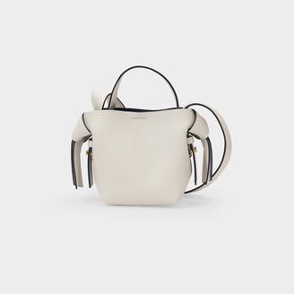 Acne Studios Bag Musubi Micro In Balck, White Leather