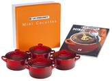 Le Creuset Cocottes with Mini-Cocotte Cookbook Set (9 PC)