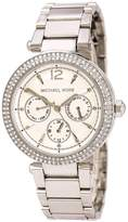 Michael Kors MK5779 Women's Parker Crystal Accented Bezel Dial Steel Bracelet Watch