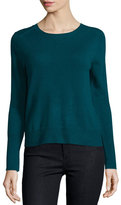 Halston Cashmere Sweater with Keyhole Detail, Spruce