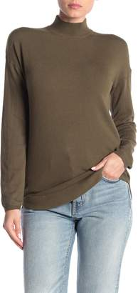 Cyrus Mock Neck Zip High/Low Tunic Sweater