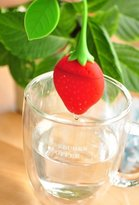 edealing 5PCS Fun Reuseable Silicone Strawberry Shape Tea Infuser Diffuser Holder Filter