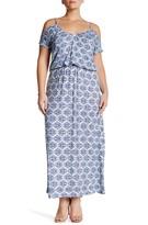 Loveappella Cold Shoulder Maxi Dress (Plus Size)