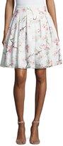 Ted Baker Cherry Blossom Burnout Skirt, Light Gray