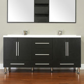 "Alya Bath Ripley 67"" Double Modern Bathroom Vanity Set Base"