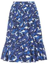 MSGM Printed cotton midi skirt