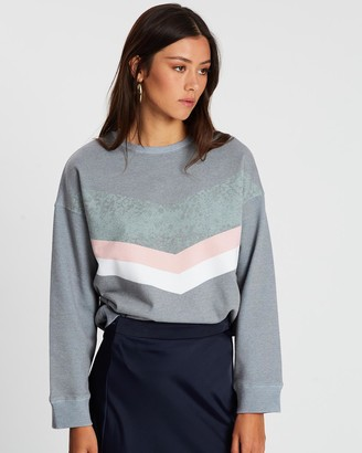 All About Eve Angled Oversized Crew Sweater