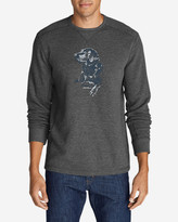 Eddie Bauer Men's Graphic Thermal Crew - Man's Best Friend
