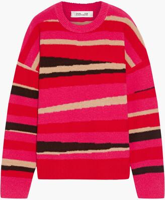 Diane von Furstenberg Dune Wool-blend Intarsia Sweater
