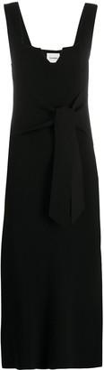 Nanushka Tie-Waist Sleeveless Midi Dress
