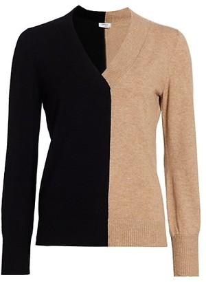 Akris Punto Bi-Color Wool & Cashmere Sweater