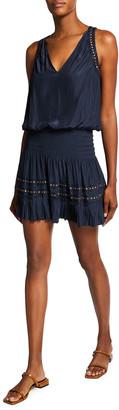Ramy Brook Miranda Sleeveless Smocked Dress