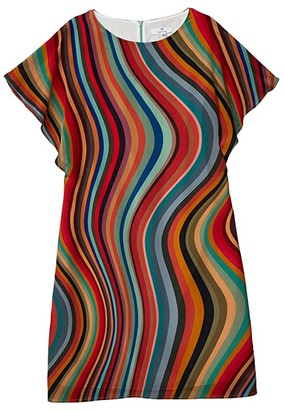 Paul Smith PS Swirl Silk Dress (Swirl) Women's Clothing