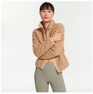 Joe Fresh Women's Sherpa Jacket, Light Camel (Size XL)