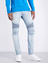 Balmain Biker skinny-fit tapered jeans