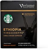 Starbucks VerismoTM 12-Count Ethiopia YirgacheffeTM Single Origin Espresso Pods