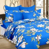 Cortina Double Bedsheet With Tow Pillow Cover ,Blue