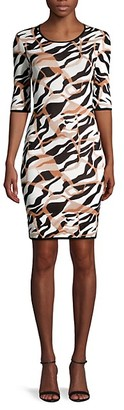 Roberto Cavalli Textured Abstract-Print Dress