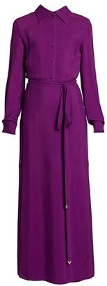Valentino Long-Sleeve Maxi Shirtdress