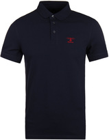 Barbour Joshua Navy Pique Short Sleeve Polo Shirt