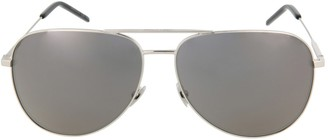 Saint Laurent Aviator-Style Metal Sunglasses