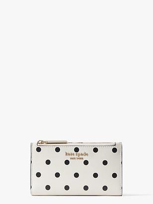 Kate Spade Spencer Cabana Dot Small Slim Bifold Wallet