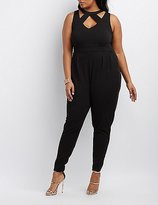 Charlotte Russe Plus Size Caged Cut-Out Jumpsuit