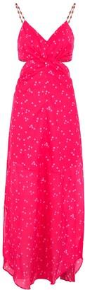 Vix Paula Hermanny V I X Paula Hermanny Briditte Polka-dot Cotton Maxi Dress