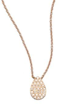 Diane Kordas Diamond & 18K Rose Gold Teardrop Necklace