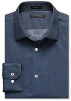 Banana Republic Camden-Fit Non-Iron Corded Solid Shirt