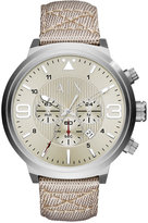 Armani Exchange A|X Men's Chronograph Taupe Nylon Strap Watch 49mm AX1374