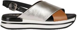 Hogan Multicolor Leather H222 Sandals