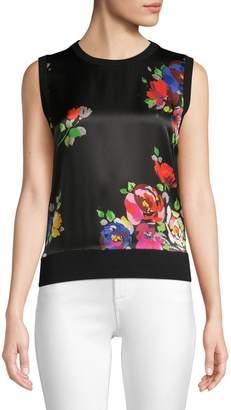 Kate Spade Rare Roses Wool & Silk Sleeveless Knit Top