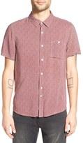 NATIVE YOUTH Men's Print Short Sleeve Woven Shirt