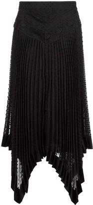 Zimmermann Handkerchief Hem Midi Skirt