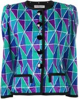 Saint Laurent Pre Owned 1980's printed blazer