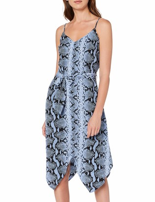 Dorothy Perkins Women's Blue Snake Henky Hem Cami Party Dress