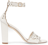 J.Crew Charlotte Laser-cut Leather Sandals - White